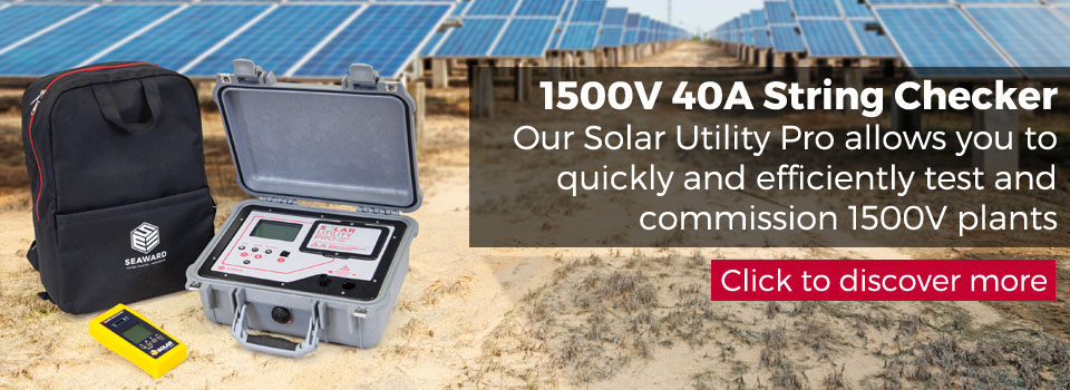 Solar Utility Pro 1500V 40A string checker and tester