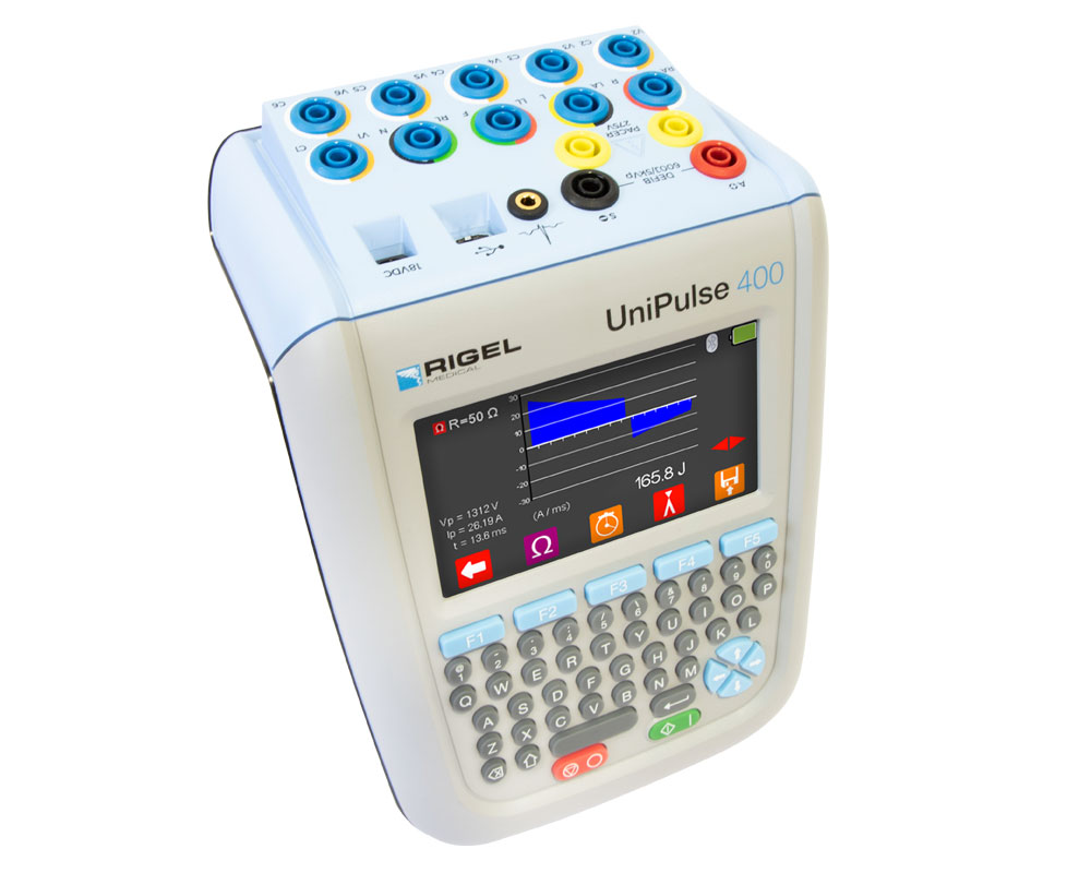 UniPulse 400 Defibrillator Analyzer Top Down Right