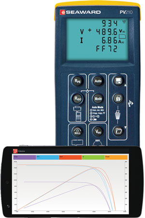 PV210 PV Tester with I-V Curve Tracing