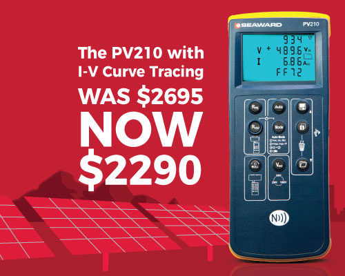 PV210 Solar PV Test Kit just $2290