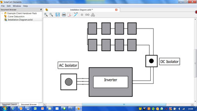 Create installation schematic diagrams